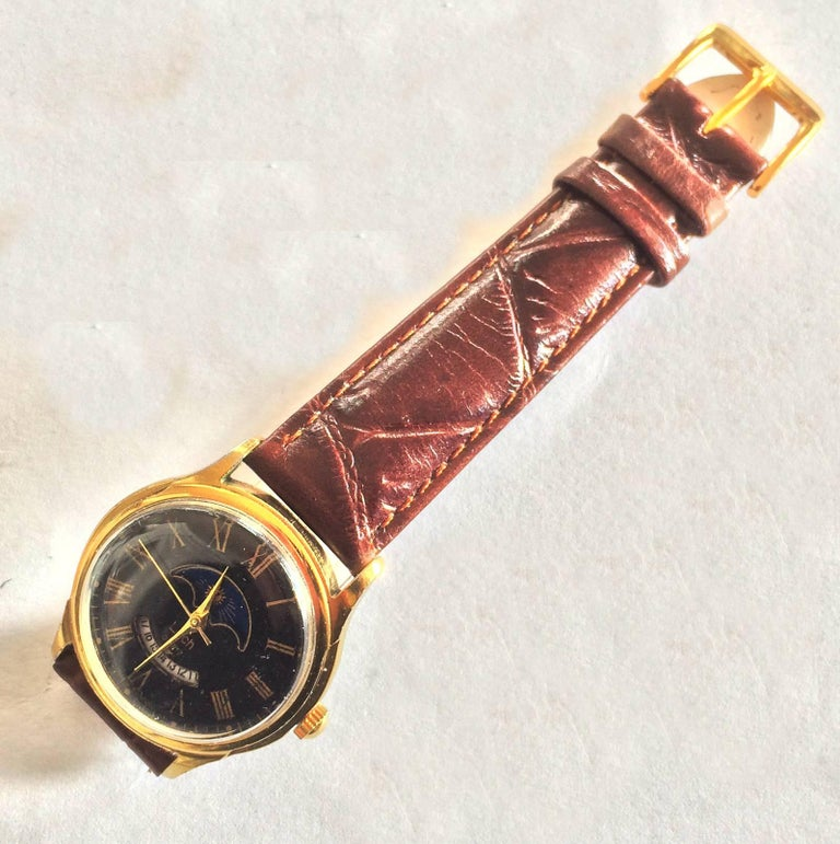 Early 1970s Russian Luch Sun and Moon watch 5