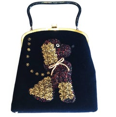 A Mid Century Poodle Dog handbag by Soure New York