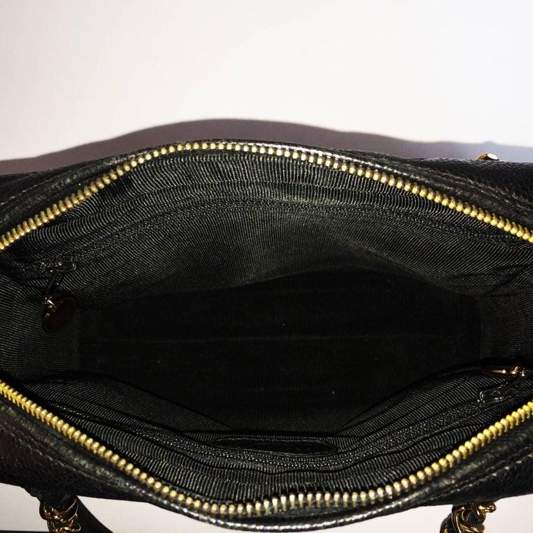Chanel black caviar leather crossbody bag handbag For Sale 2