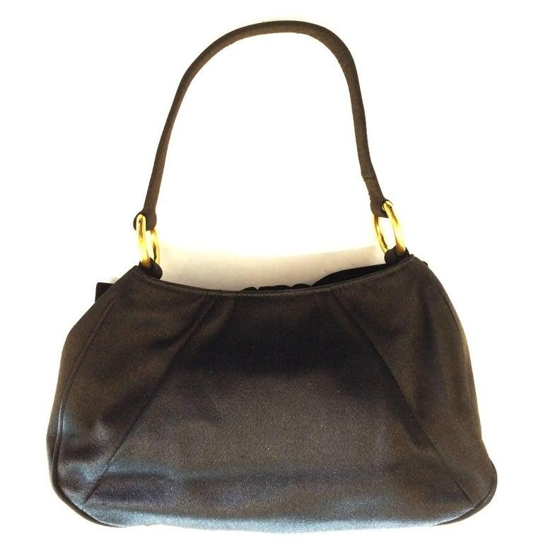 Vintage Yves St Lauren Ysl Black Velvet Evening Bag