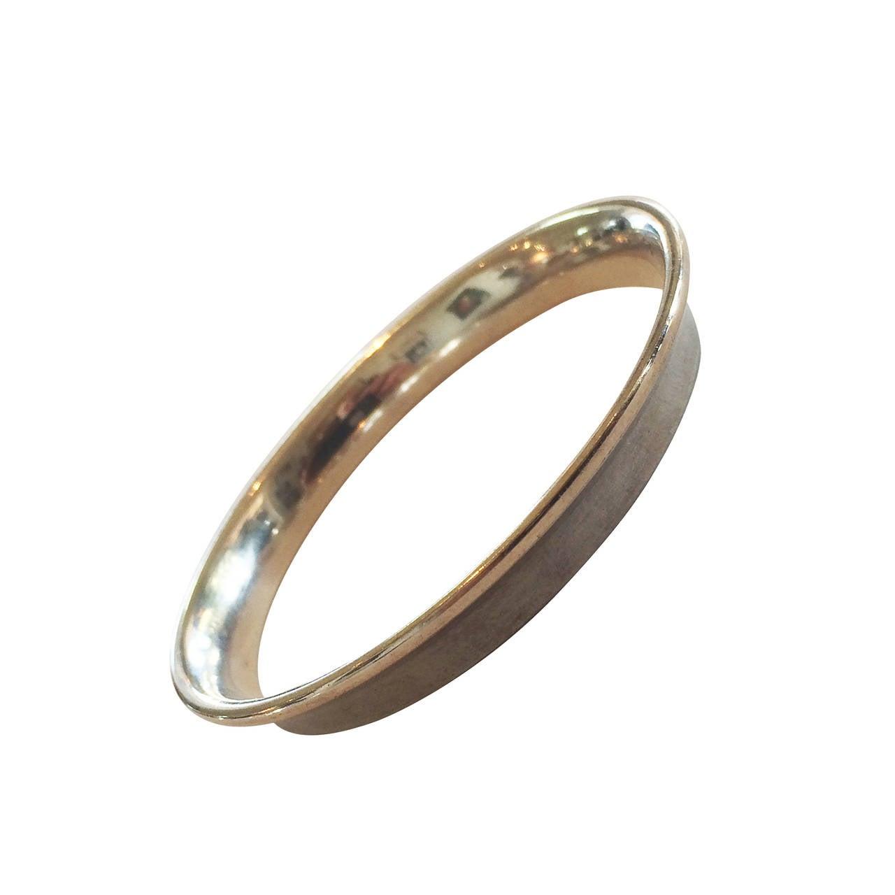 Georg Jensen bangle bracelet designed by Nanna Ditzel Modernist 1
