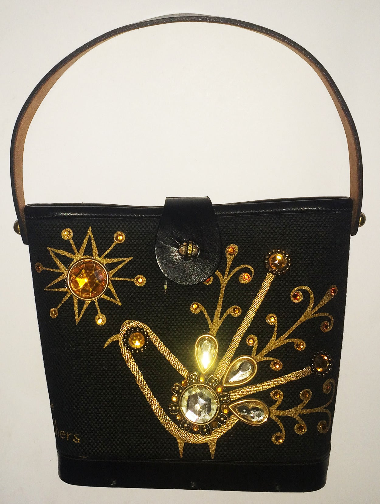 Women's Fabulous 1960s Enid Collins Fine Feathers jewelled purse bag For Sale