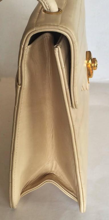 Chanel Beige Leather Cross Body bag handbag purse 3