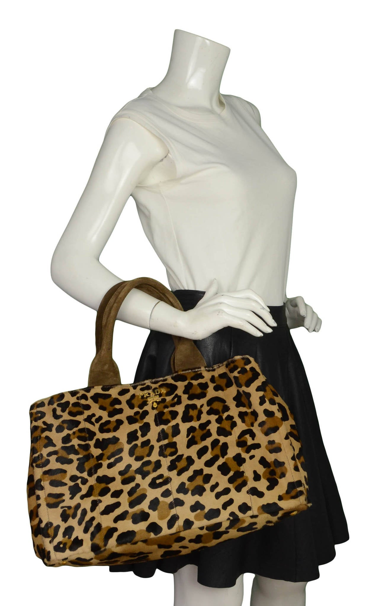 prada handbag blue - PRADA Brown and Black Leopard Print Pony Hair Tote Bag at 1stdibs