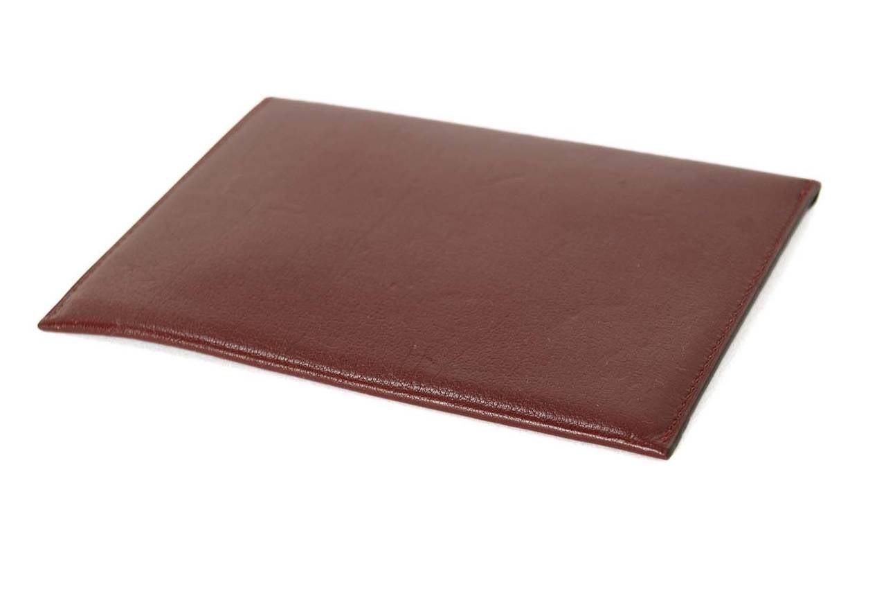 where can i buy hermes birkin - HERMES 2002 Rouge H Chevre Leather Envelope Passport Holder at 1stdibs