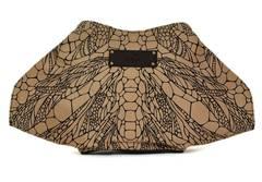 Alexander McQueen Gold/Black De Manta Butterfly Print Clutch