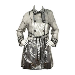 RED VALENTINO NWT Clear/Lace Double Breasted Rain Trench Coat Sz. 10 rt. $795