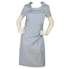 OSCAR DE LA RENTA Powder Blue Short Sleeve Dress sz.4