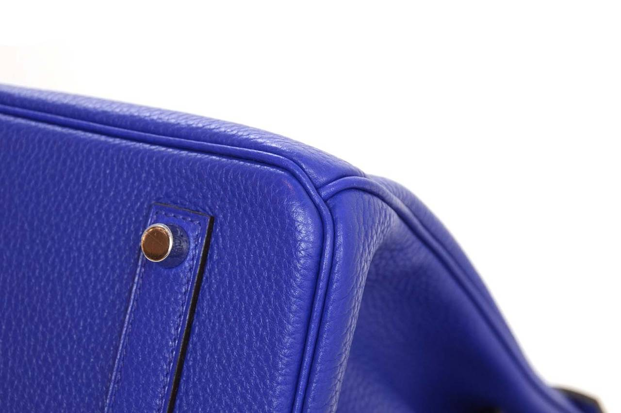 cheap birkin bags - hermes blue electric 35 cm bikrin bag togo leather with phw