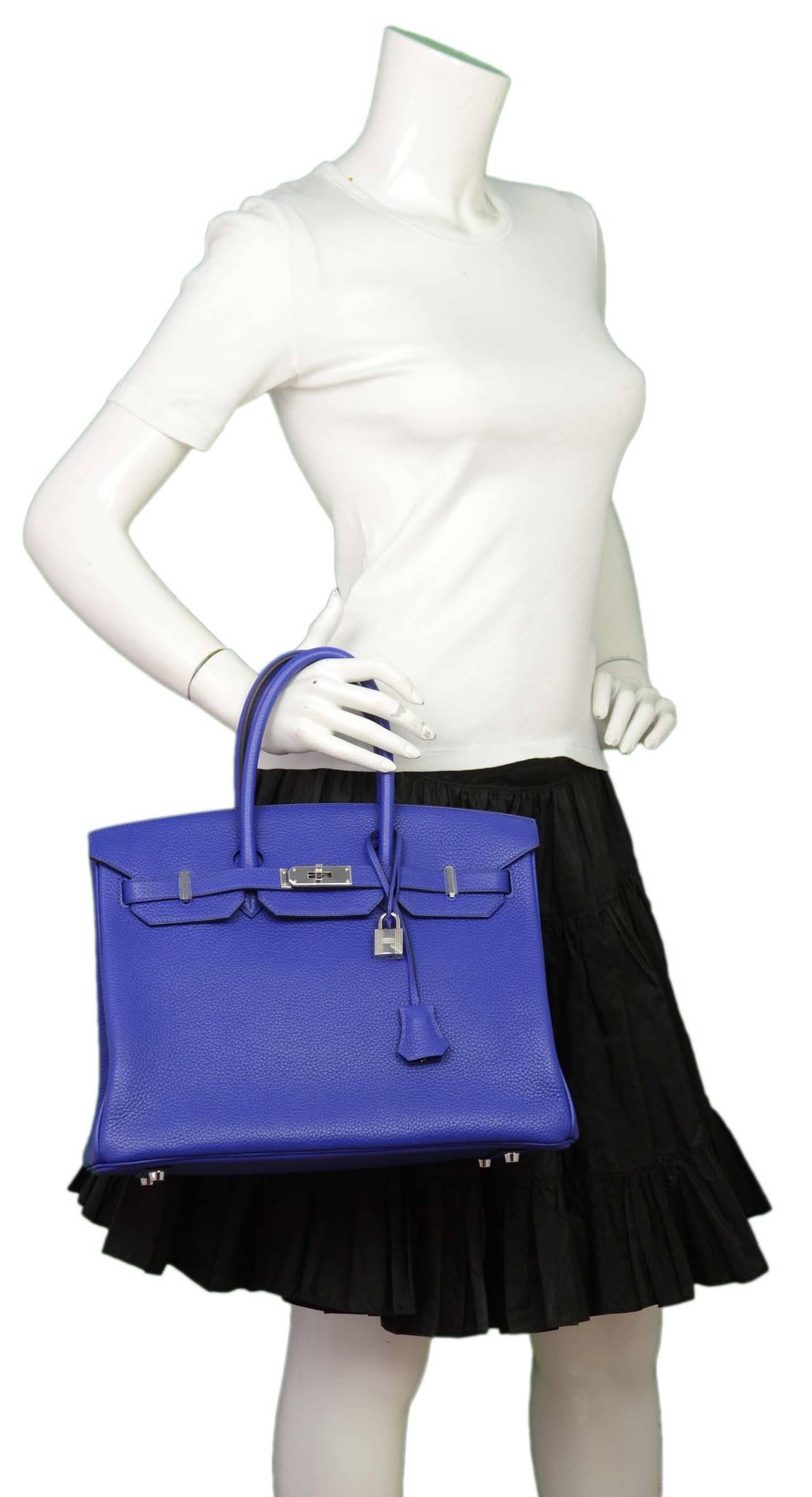 Hermes 30cm White Clemence Birkin Bag with Palladium Hardware and Fourbi Insert
