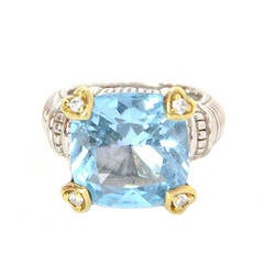 Judith Ripka Turquoise Quartz Diamond Fontaine Ring