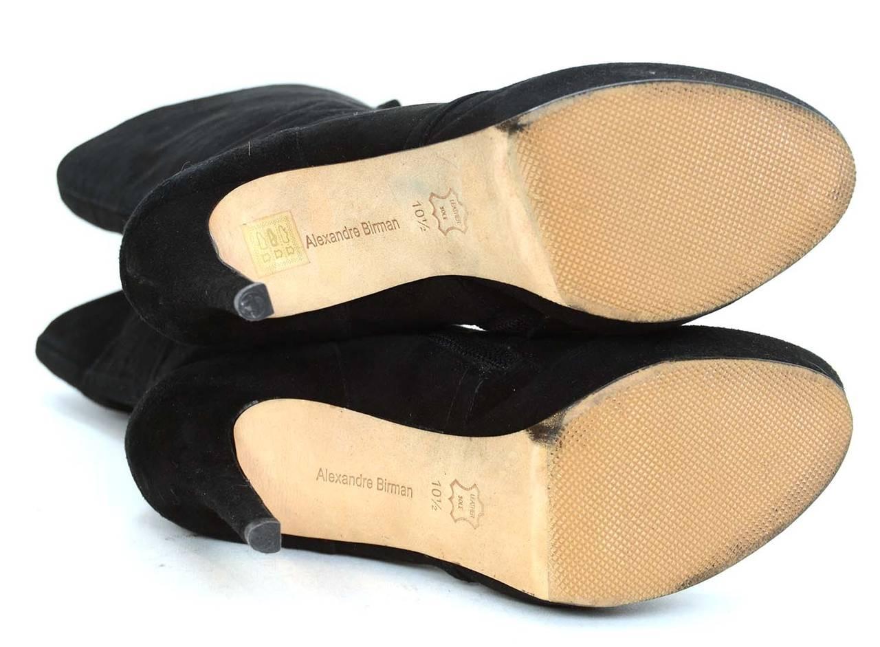 ALEXANDRE BIRMAN Black Suede Lace Up Heeled Boots sz. 10.5 6