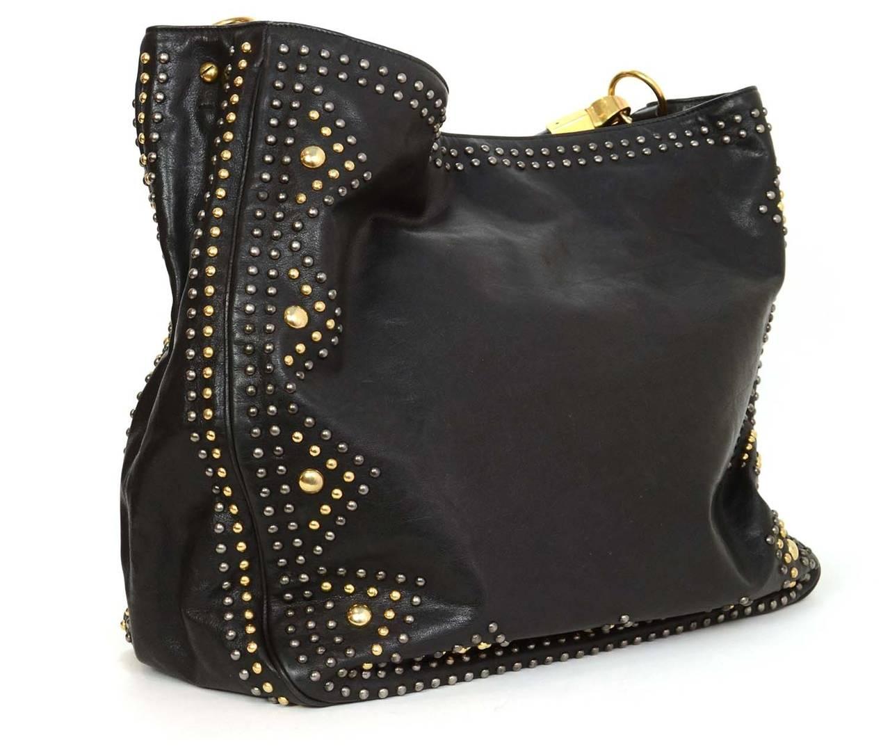 ysl large black hobo leather bag