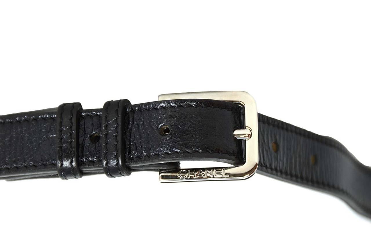 7266cf48efec Women's CHANEL Black Quilted Calfskin Reissue Belt Bag sz 85 SHW For Sale