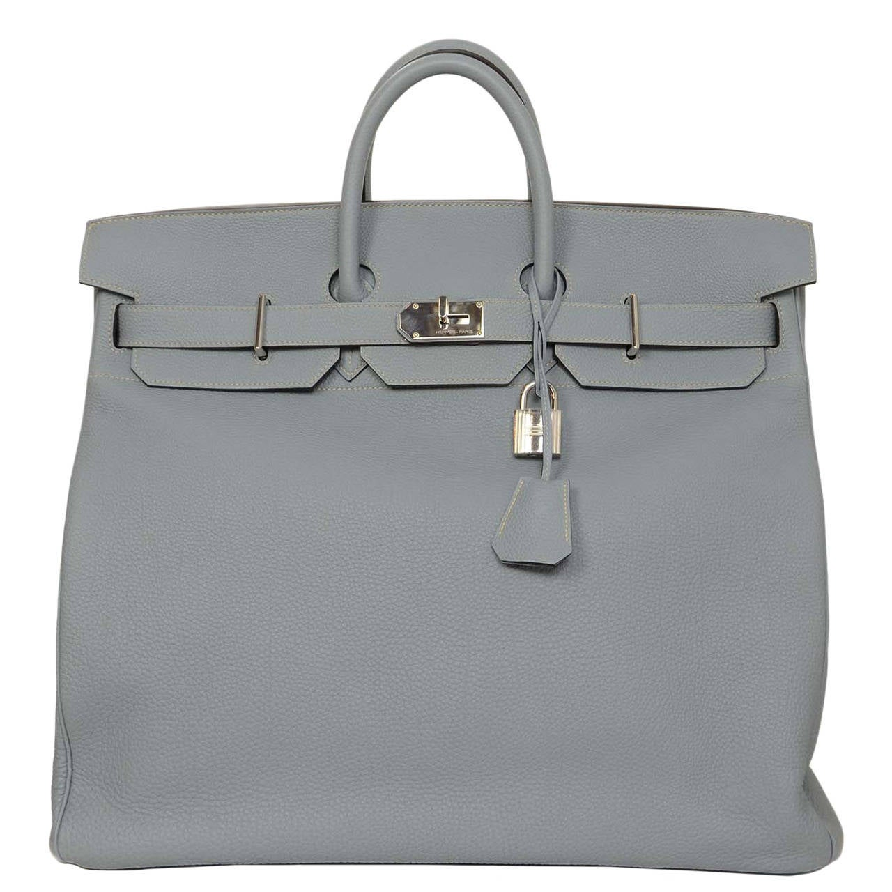 6af39fe0df3 ... where can i buy hermes 2013 50cm blue lin togo leather hac birkin  travel bag phw