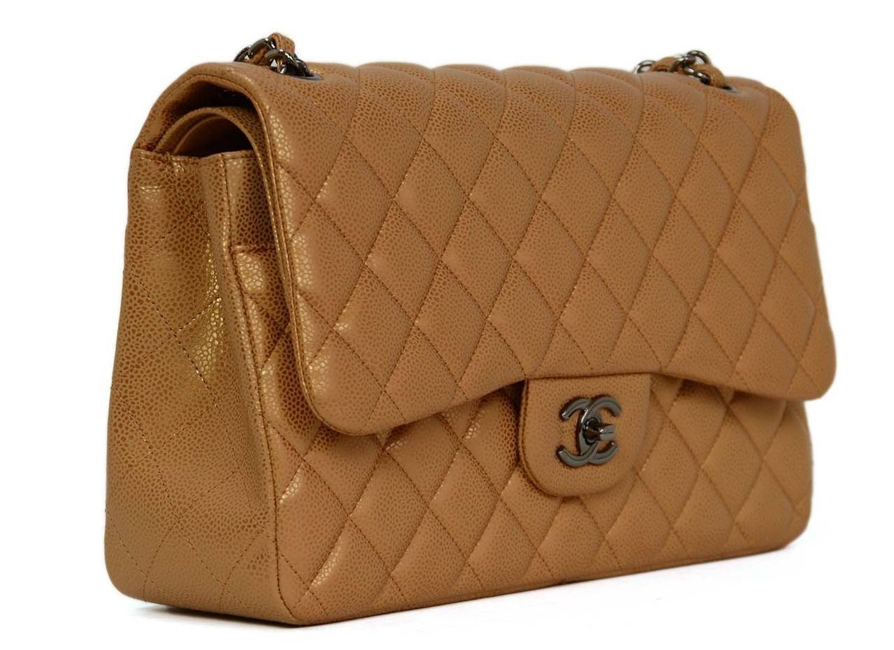 Chanel Metallic Caviar Double Flap Jumbo Made in  France Year of  Production  2011 Color b6bc717e3