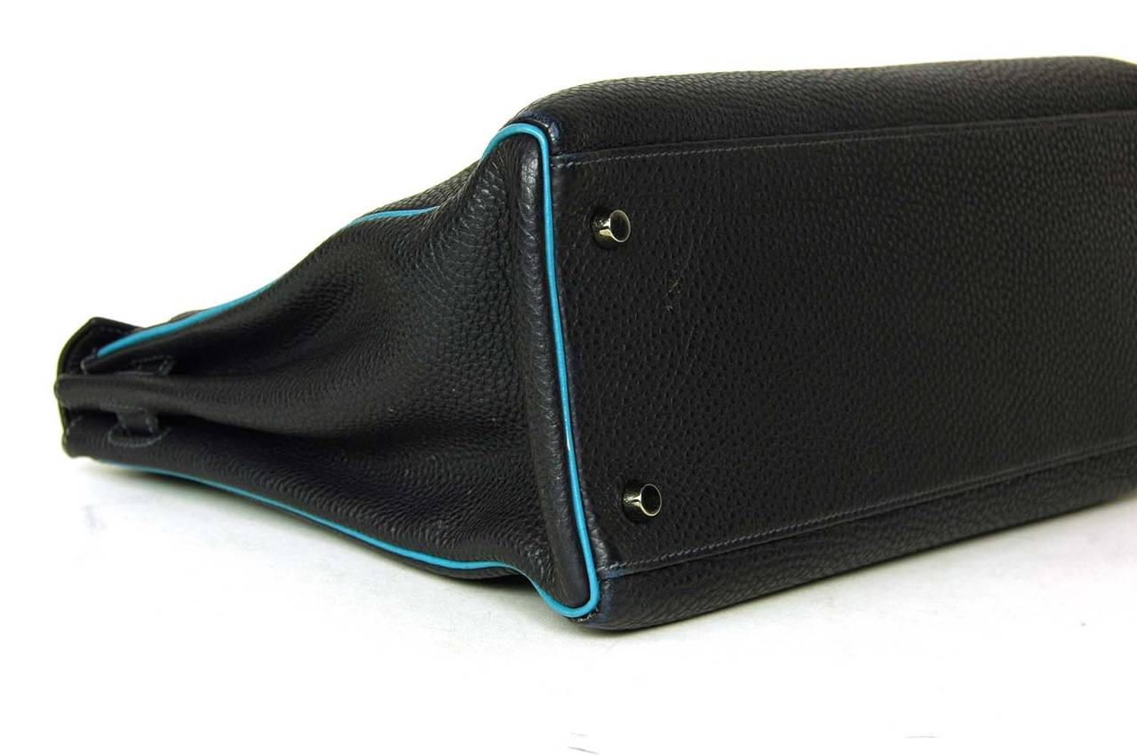 hermes handbags prices - HERMES 35cm Blue Indigo Togo Leather Retourne Kelly Bag w. Blue ...