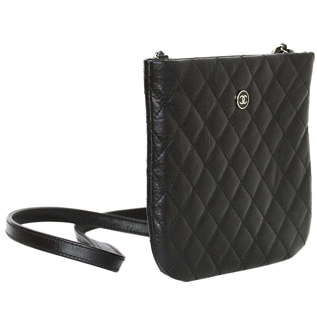 48a70e4f94ca Black Chanel Crossbody Leather Bag | Stanford Center for Opportunity ...