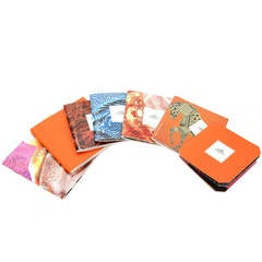 HERMES Set of 7 'Le Carre' Scarf Booklets 2002-2008