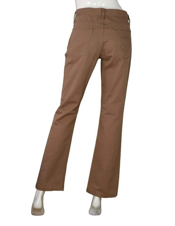 Gucci Khaki Bootcut Jeans sz 44 3