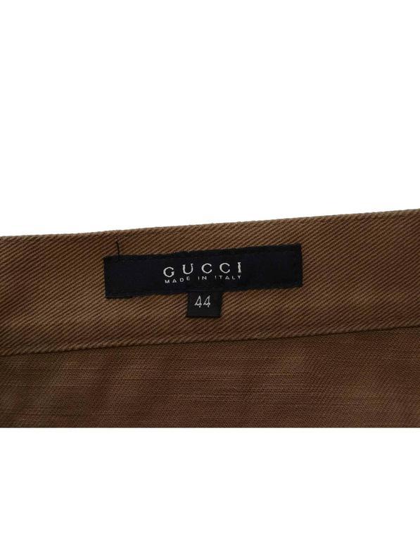 Gucci Khaki Bootcut Jeans sz 44 4