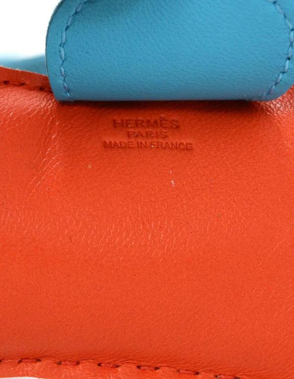 Red Hermes '16 New Orange Poppy, Rose Azalea & Blue Izmir Rodeo Horse Charm For Sale