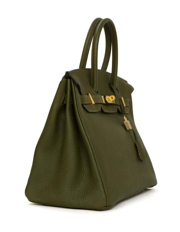 3917ac1066a4 best price hermes birkin green 0dd12 33e97  coupon code for black hermes  olive green togo leather special order 35cm birkin bag ghw for