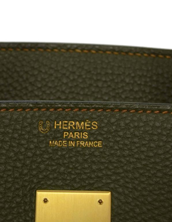 Hermes Olive Green Togo Leather Special Order 35cm Birkin Bag GHW 8