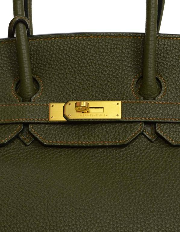 Hermes Olive Green Togo Leather Special Order 35cm Birkin Bag GHW 5