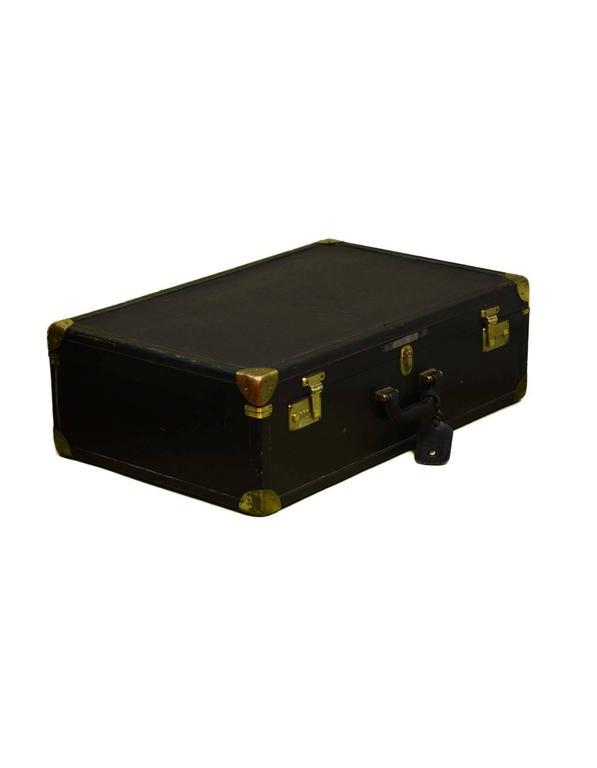 Bottega Veneta Black Vintage Coated Canvas Hard Suitcase BHW 2