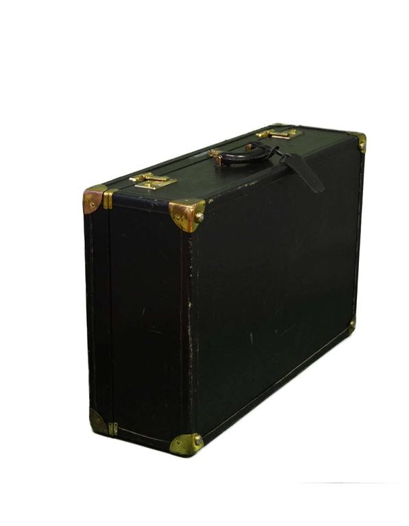 Bottega Veneta Black Vintage Coated Canvas Hard Suitcase BHW 3