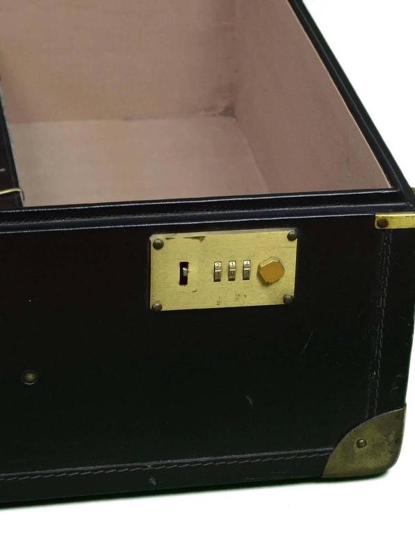 Bottega Veneta Black Vintage Coated Canvas Hard Suitcase BHW 6