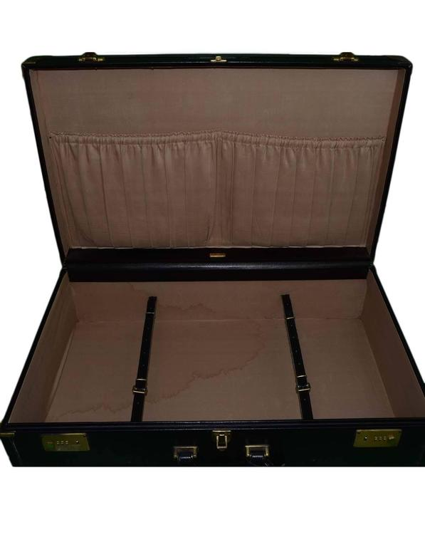 Bottega Veneta Black Vintage Coated Canvas Hard Suitcase BHW 5