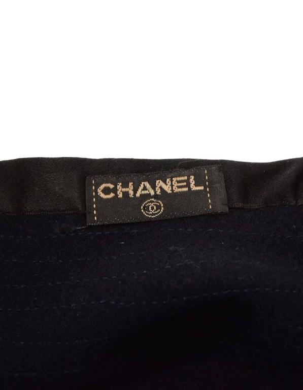 Chanel Vintage '70s Navy Wool Beret Hat  3