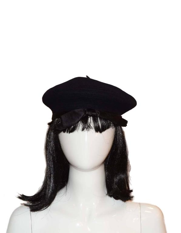 Chanel Vintage '70s Navy Wool Beret Hat  4