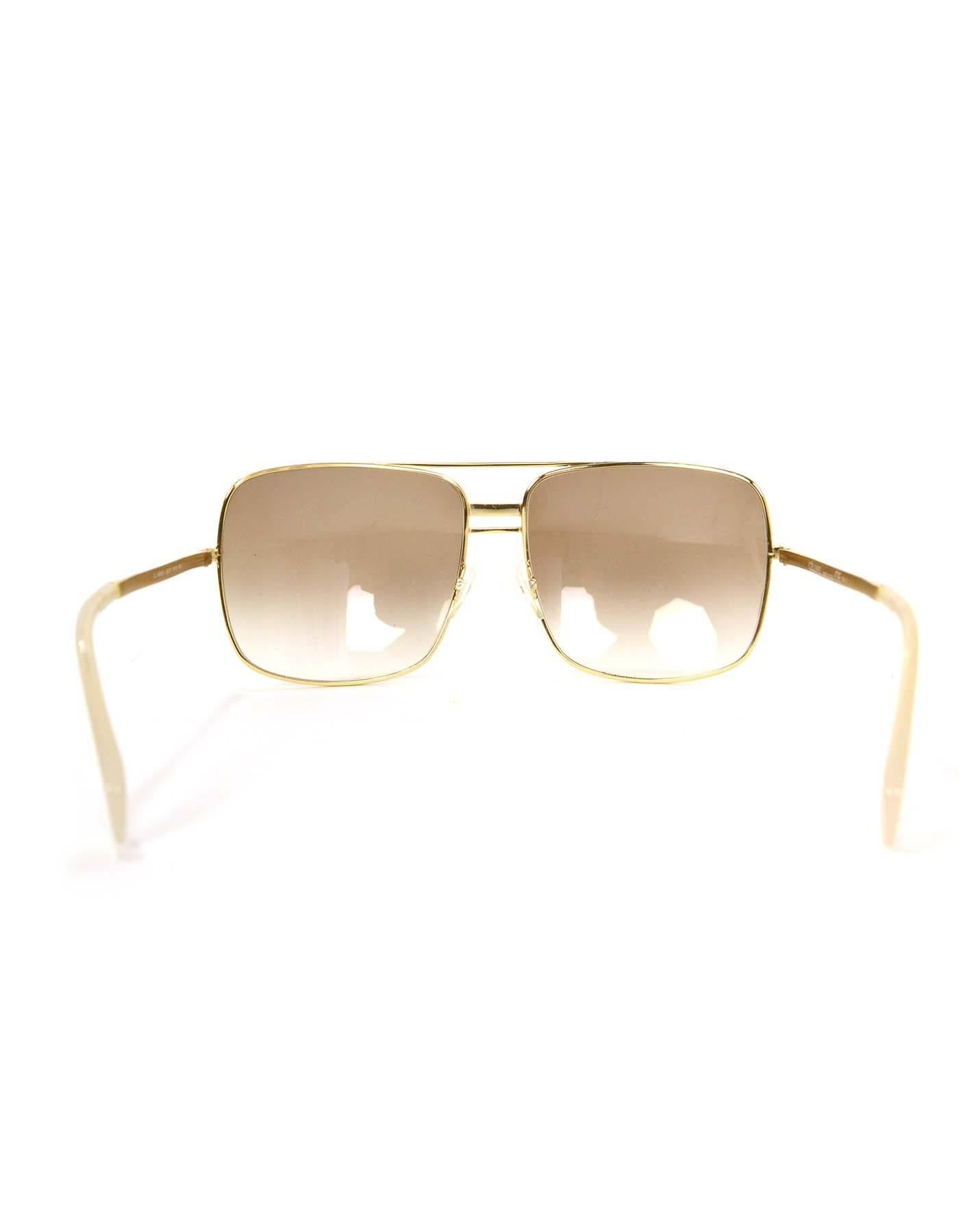 2e6b108568 Celine Gold CL41808 S Aviator Sunglasses For Sale at 1stdibs