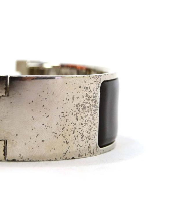 Hermes black enamel wide h clic clac pm bracelet phw for - Clic clac 1 place ikea ...