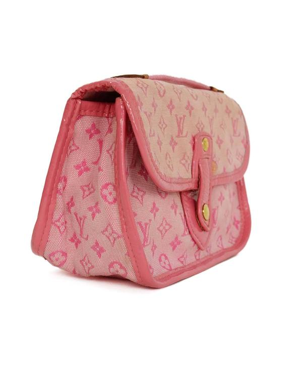 Louis Vuitton Pink Mini Lin Mary Kate Pochette GHW
