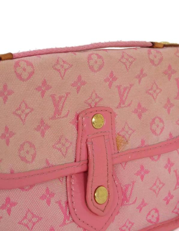 Louis Vuitton Pink Mini Lin Mary Kate Pochette GHW For Sale 3