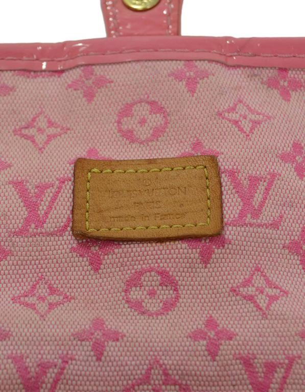 Louis Vuitton Pink Mini Lin Mary Kate Pochette GHW For Sale 4