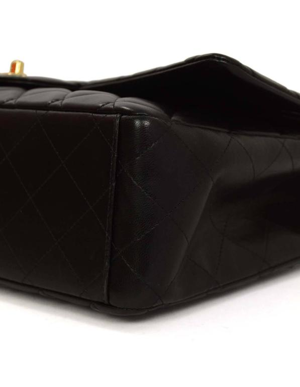 Chanel Black Quilted Lambskin Maxi Classic Double Flap Bag GHW 1