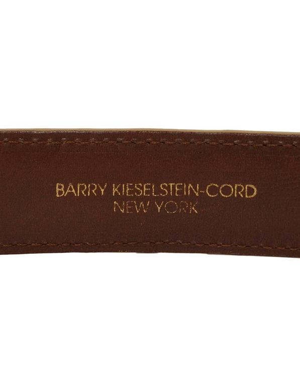 Kieselstein-Cord Beige Alligator Skin Belt Strap sz 85 For Sale 2