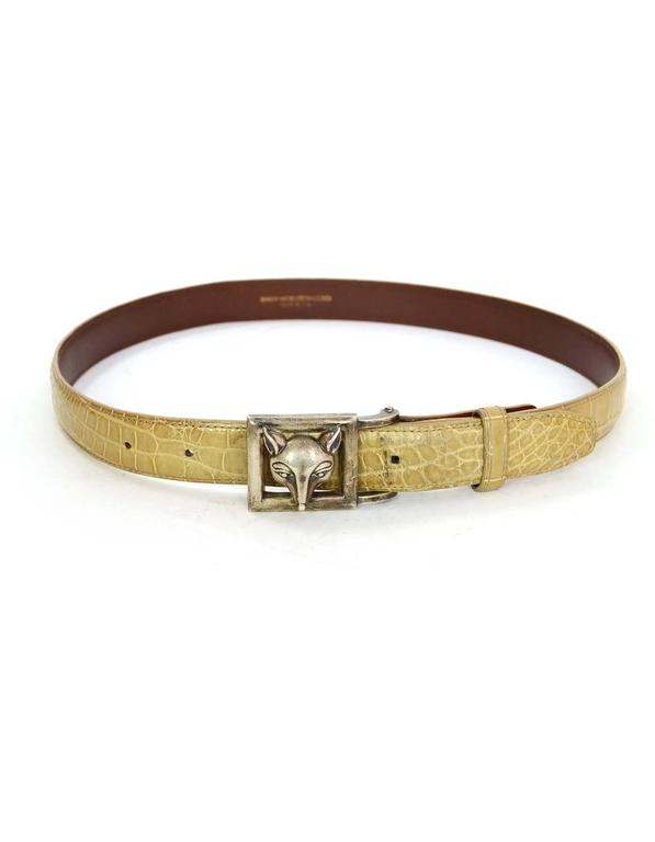 Kieselstein-Cord Alligator Skin Belt Strap