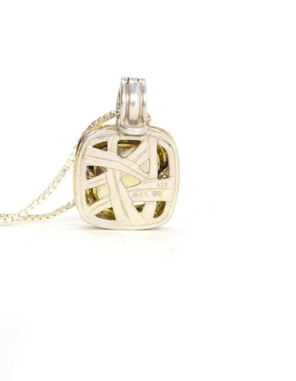 david yurman albion citrine and diamond pendant necklace at 1stdibs