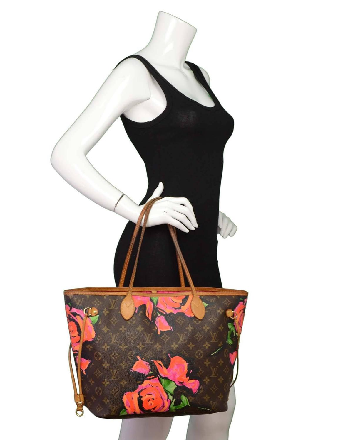louis vuitton ltd edt monogram stephen sprouse roses neverfull mm tote bag for sale at 1stdibs
