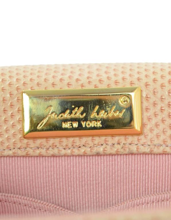 Judith Leiber Peach Lizard Evening Bag Ghw For Sale At 1stdibs
