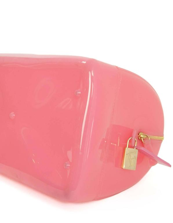 Furla Pink Rubber Boston Bag GHW For Sale at 1stdibs