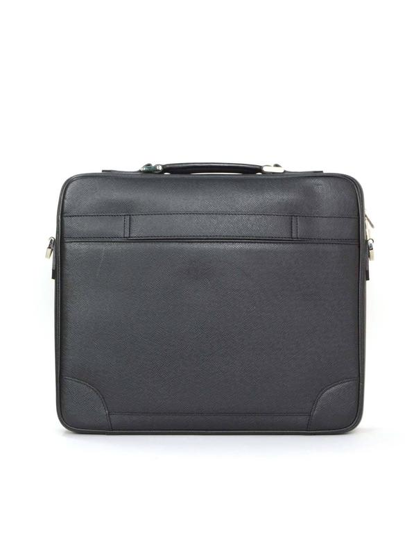 f83644c133c7 Louis Vuitton Black Taiga Odessa Messenger Laptop Bag SHW rt.  3