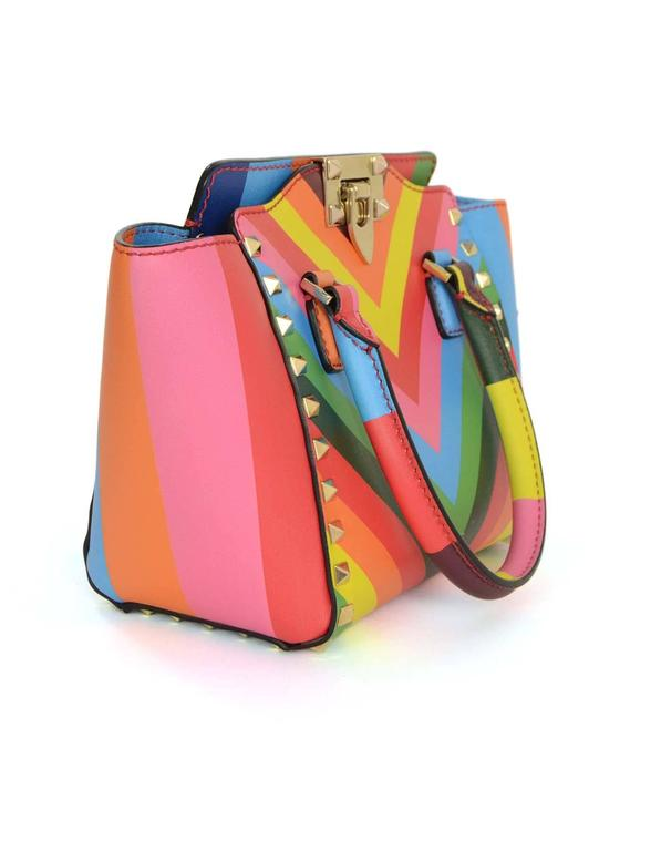 Valentino Multi Colored Rainbow Micro Mini Rockstud