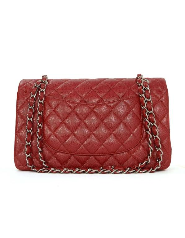 7abafe01d1a3 Chanel Red Caviar Medium Double Flap Bag Features adjustable shoulder strap  Made In  France Year